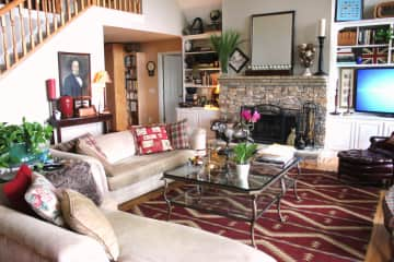 Our home is full of antiques, artwork and comfortable living