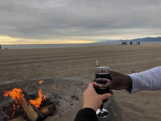 Good wine, great company, and a beach=heaven!