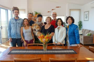 Me, Bernadette, son and daughter in law and Chinese BNB guests