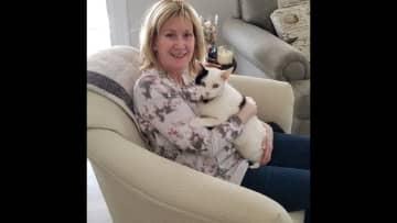 April 4, 2021 loving on my sweet cat Meeko.
