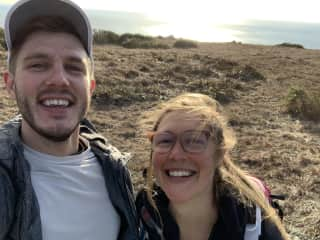 My brother & I on a hike in Point Reyes, CA