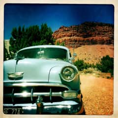 One of our fondest memories: cross country trip with Blue Betty, our '54 chevy