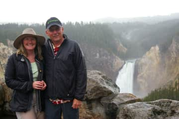 Louise & Martin in Yellowstone Park
