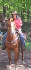 My old, faithful trail horse, Deuce.