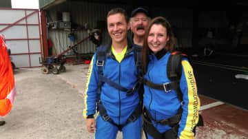 Us skydiving for our 10th anniversary
