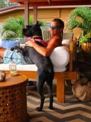 Jim and his girlfriend, Osa, in Oahu