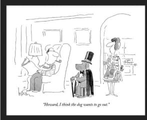 A favorite New Yorker cartoon.