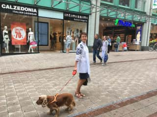 Walking with Mila, my friend's dog in Germany