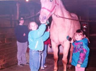 I started riding quite young (the green jacket)
