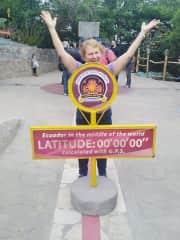 I am in Quito Ecuador at the 0 latitude