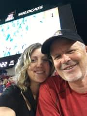 Tom and Jill at University of Arizona football game