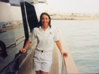 20 years ago, Laura  working on a yacht
