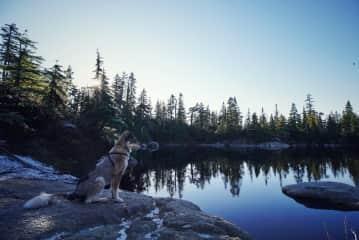 Keza at Cabin Lake