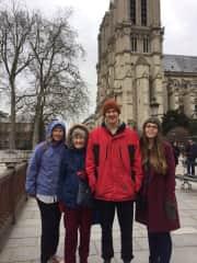 Family meet up in Paris.