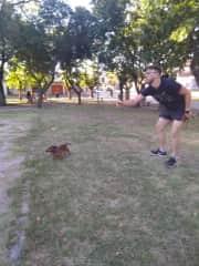 Fede having fun with Keylo