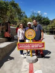 Me with friends at the equator
