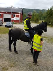Ville getting last minute instructions before the trail ride