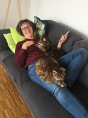 Minka and Minou at home with me at our favorite place :-)