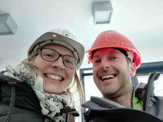Stefan & Diana exploring caves in Germany 05/2019
