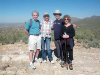 Hiking in Arizona last year