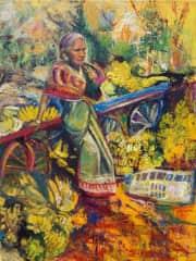A banana seller in Goa