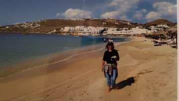 Me in Mykonos, Greece