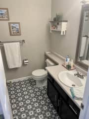 Your private bathroom! Has a shower as well.