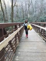 Visiting the beautiful Catawba Falls in Old Fort, North Carolina.