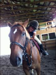 Me riding Rocky- a horse a formerly leased