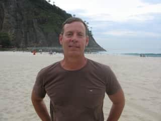 Me on Leme Beach in rio de Janeiro