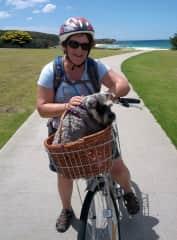 Bindi and I after a long bike ride