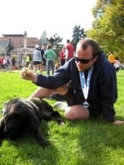 Post half marathon run with my pooch.