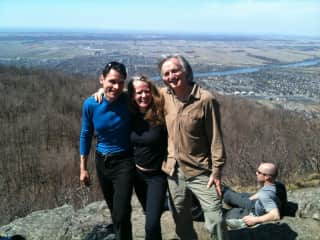 With friends Judith and Jean-Pierre on a hike in Quebec
