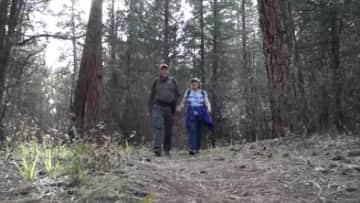 We love to hike.