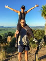 Daniel and Jessy having completed a walk in Whakatane, New Zealand.