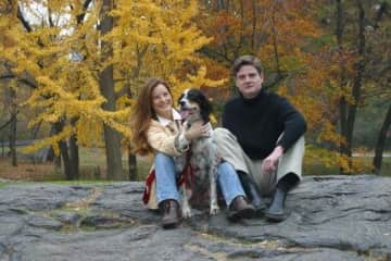 Central Park NYC with our English Setter, Bella