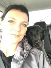 Me and my favorite black Retriever ❤️