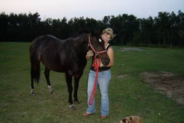 Ruth with her filly Porsha