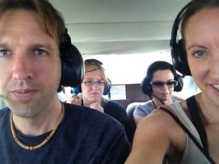 John, Lydian, and Jennifer in Nazca, Peru