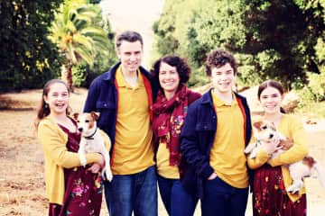 Weston Family with Sammy and Lucy