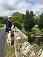 Steve and Ela on the lookout! (Cotswolds, England)