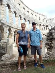 Robyn and Kevin in Pula, Croatia 2018