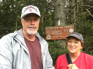 Richard and Pat Barker, hiking the Appalachian Trial in Maine