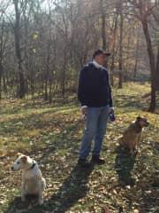 Pet sitting enjoying nature walks with the puppies 🐶 I'm watching