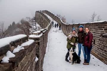 Trigger on the Great Wall after some snow