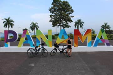 Our bicycles are with in Panama. The plan is to drive through Panama with the bicycle. Its the first time to do this with the bicycles.