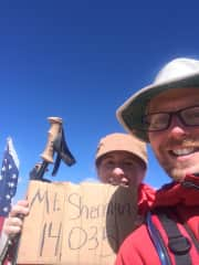 This is us at the top of one of the Colorado 14ers: Mount Sherman.
