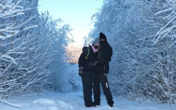 Freezing while hiking in Fairbanks, Alaska