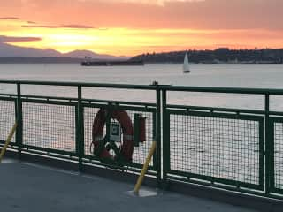 Sunset from the Vashon ferry