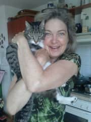 Teddy mij neighbour cat and I